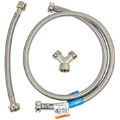 Certified Appliance Accessories Braided Stainless Steel Steam Dryer Kit 6 Ft.