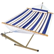Algoma 11 ft. Fabric Hammock Pillow and Stand Combination Set