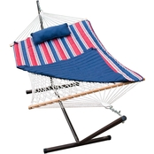 Algoma Cotton Rope Hammock, Stand, Pad and Pillow Set