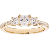 14K Gold 1 CTW Diamond Certified Three Stone Ring