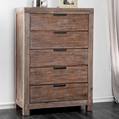 Furniture of America Wynton 5 Drawer Chest