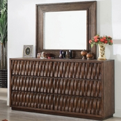Furniture of America Eutropia 6 Drawer Dresser and Mirror