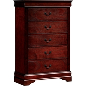Furniture of America Louis Phillipe 5 Drawer Chest
