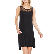 Vince Camuto Eyelet Embroidered Dress