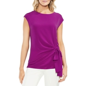Vince Camuto Mix Media Tie Front Blouse