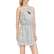 Vince Camuto Jacquard Stripe Halter Dress