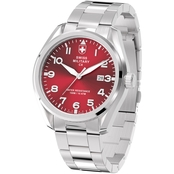 Swiss Military Men's Pilot Stainless Steel Watch 46mm Silver Case 78333-11