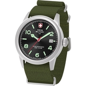 Swiss Military Men's Vintage Stainless Steel NATO Strap Watch 40mm 78335-8
