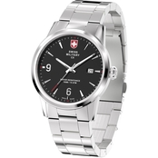 Swiss Military Men's Officer Stainless Steel Silver Band Watch 42mm 78346-4