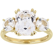 Sofia B. 10K Yellow Gold Created White Sapphire Three-Stone Ring