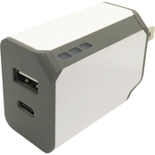 Powerzone 3.4A Type C & USB Wall Charger