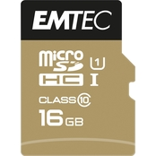EMTEC 16GB MicroSD Class 10 UHS1 U1 with SD Adapter