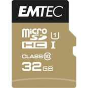 EMTEC 32GB MicroSD Class 10 UHS1 U1 with SD Adapter