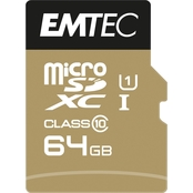 EMTEC 64GB MicroSD Class 10 UHS1 U1 with SD Adapter