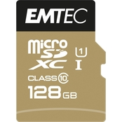 EMTEC 128GB MicroSD Class 10 UHS1 U1 with SD Adapter
