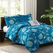 Jaipur Teal 5-piece Quilt Set