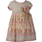 Bonnie Jean Toddler Girls Knit Empire to Chiffon Float Dress
