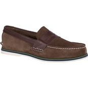 Sperry Men's Authentic Original Penny Nautical Brown Loafers