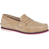 Sperry AO Penny Nautical Tan Loafers