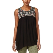 Style & Co. Embroidered Handkerchief Hem Tunic