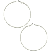 Guess Basic Square Edge Hoop Earrings