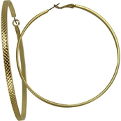 Guess Textured Classic Hoop Earrings
