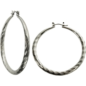 Guess Basic Large Wire Hoop Earrings