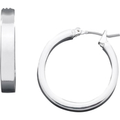 Guess Wide Hoop Earrings