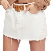 Free People Patched Mini Skirt