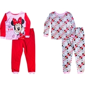 Disney Infant Girls Minnie Mouse Sweet Dreams 4 pc. Pajamas Set