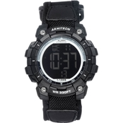 Armitron Men's Sport Digital Chronograph Black Nylon Strap Watch 40/8435BLK