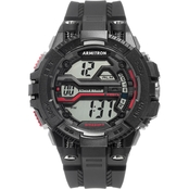 Armitron Men's Sport Digital Chronograph Black Resin Strap Watch 40/8436BLK