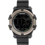Armitron Men's Sport Digital Chronograph Black Resin Strap Watch 40/8438BLK