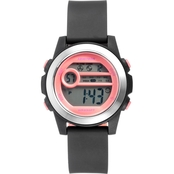 Armitron Women's Sport Pink Accent Digital Chronograph Resin Strap Watch 45/7104PBK