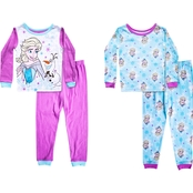 Disney Infant Girls Frozen Elsa and Olaf 4 pc. Pajamas Set