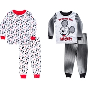 Disney Infant Boys Mickey Mouse 4 pc. Pajama Set