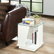 Furniture of America Telluride Glass End Table