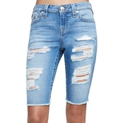 True Religion Knee Length Cut Off Shorts