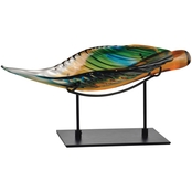 Dale Tiffany Art Glass Leaf With Stand