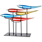 Dale Tiffany 5 Pc. Multi Color Fish With Stand