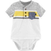 OshKosh B'gosh Infant Boys Henley 1 Pc. Bodysuit
