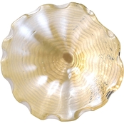 Dale Tiffany Beige Feather 20 in. Hand Blown Glass Plate