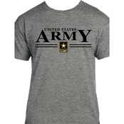 United States Army, Army Star Logo Graphite Heather T Shirt