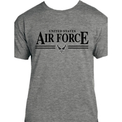 United States Air Force, Air Force Symbol Graphite Heather T Shirt