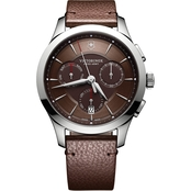 Victorinox Swiss Army Men's Alliance Chronograph with Leather Strap