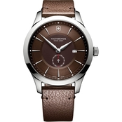 Victorinox Swiss Army Men's Alliance Large 44mm Watch with Leather Strap