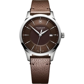 Victorinox Swiss Army Men's Alliance Large 40mm Watch with Leather Strap