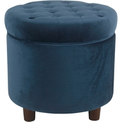 Kinfine Small Round Storage Ottoman
