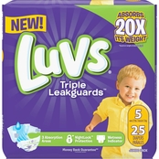 Luvs Diapers Jumbo pk., Size 5 (27 + lb.) 25 ct.