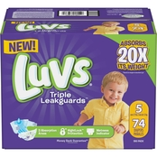 Luvs Diapers Big Box, Size 5 (27 + lb.) 74 ct.